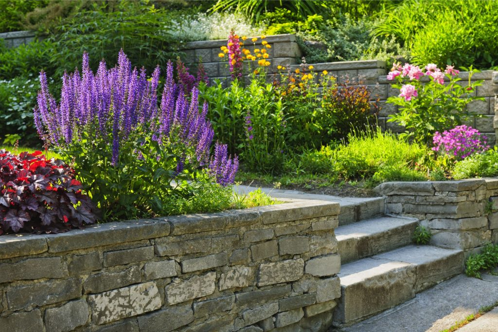 Beautiful assortment of flowers planted by Landscaping Madison WI